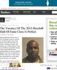 The Vacancy Of The 2013 Baseball Hall Of: Forbes.com